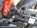 Woodcraft 749/999 (all) RearSets Black W/Shifter: Ducati - Tacticalmindz.com