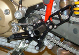 Woodcraft Hypermotard Complete Rearset Assembly 2007-2012: Ducati