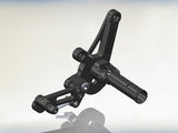 Woodcraft 1198 Diavel GP Shift Adjustable Complete Rearset Kit: Ducati