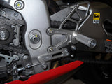 Woodcraft RSV4 08-10 Full Rearsets Clear Anodized: Aprilia