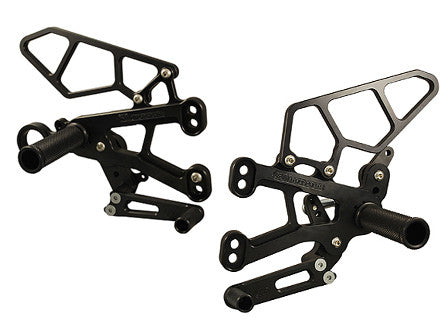 Woodcraft S1000RR 2010+ Rearset Kit - GP Shift Complete W/Pedals: BMW