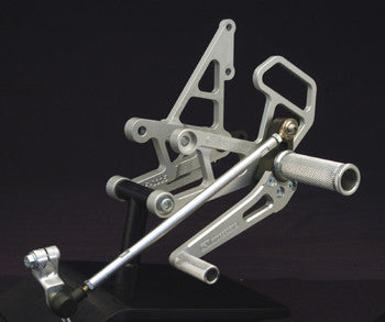 Woodcraft CBR1000RR '04-07 Complete Rearset Kit W/Shift & Brake Pedals: Honda - Tacticalmindz.com