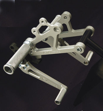 Woodcraft Complete Rearset Kit 750/900SS 1991-1998 with 3 piece pedals: Ducati
