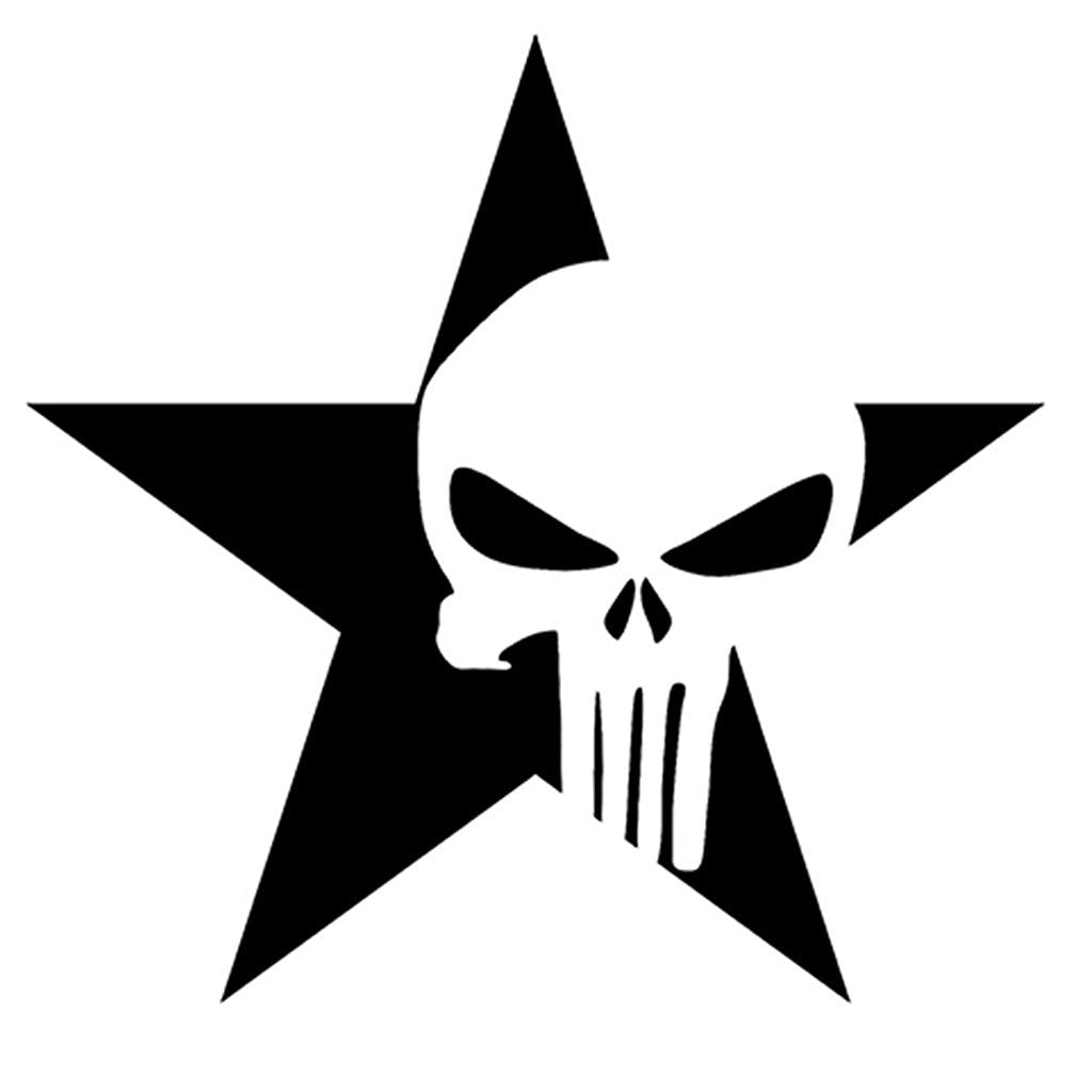 Punisher Star Decal / Sticker