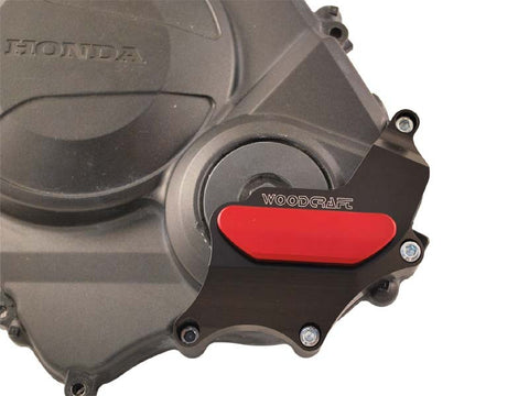 Woodcraft CBR600RR 2007+ RHS Clutch Cover Protector Assembly Black: Honda