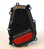 Woodcraft R1 1998-2003 RHS Ignition Trigger Cover Assembly Black: Yamaha