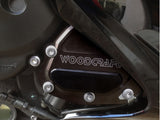 Woodcraft R1 2004-2008 / FZ1 2006-2012 RHS Oil Pump Cover Assembly Black: Yamaha