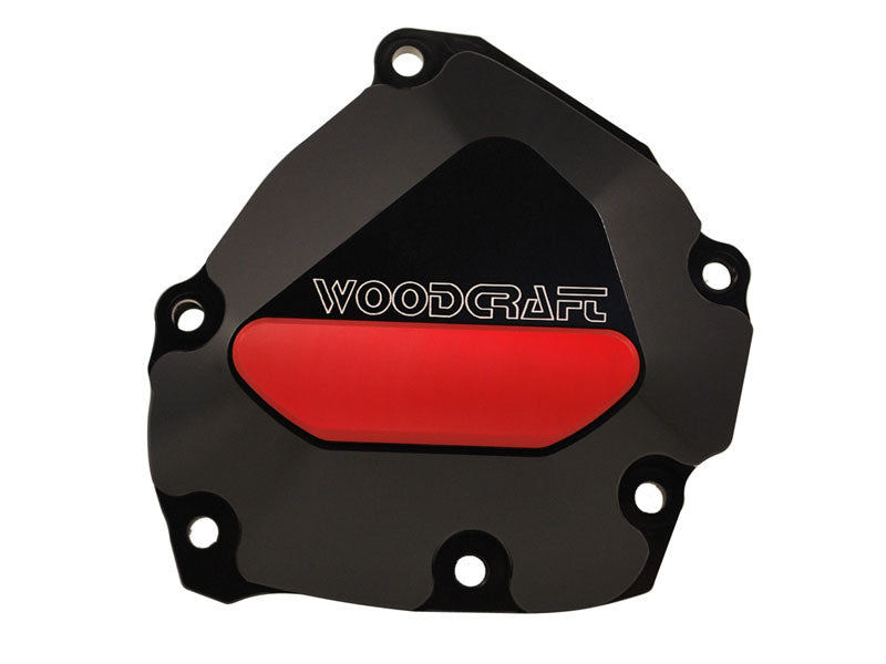 Woodcraft R1 2009+ RHS Oil Pump/ Ignition Trigger Cover Assembly Black: Yamaha