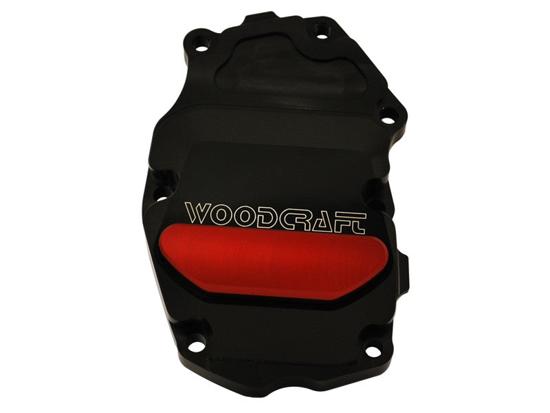 Woodcraft 675 2013+ RHS Crank/Ignition Trigger Cover Black Anodized: Triumph