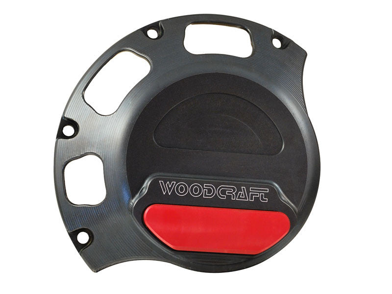 Woodcraft Wet Clutch RHS Clutch Cover Protector Assembly Black: Ducati