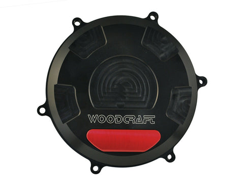 Woodcraft 1199 Panigale RHS Clutch Cover Black Anodized: Ducati