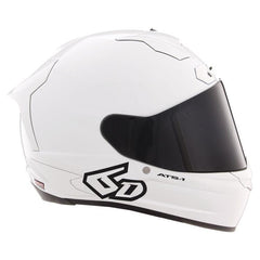 6D Helmets ATS-1R Solid Gloss White
