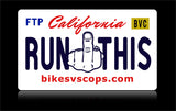 Bikes vs Cops License Plate: California - Tacticalmindz.com