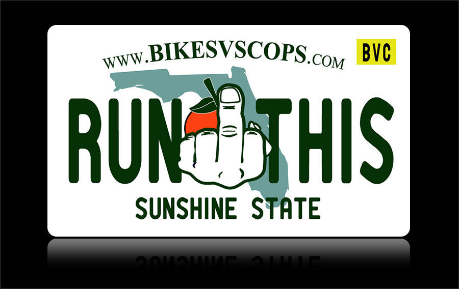 Bikes vs Cops License Plate: Florida - Tacticalmindz.com