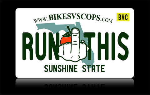 Bikes vs Cops License Plate: Florida