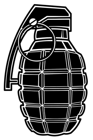 HUGE Grenade Sticker 2ft Tall