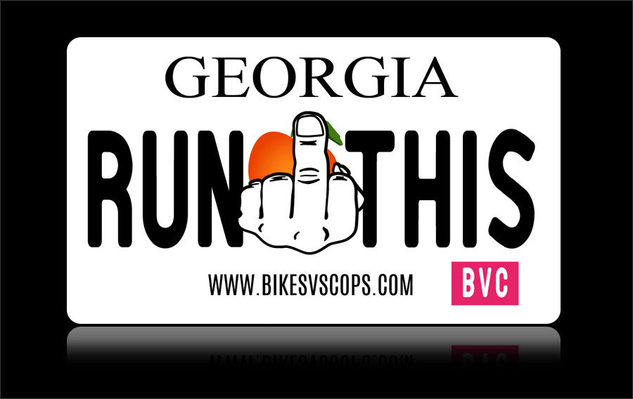 Bikes vs Cops License Plate: Georgia - Tacticalmindz.com