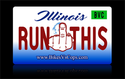 Bikes vs Cops License Plate: Illinois