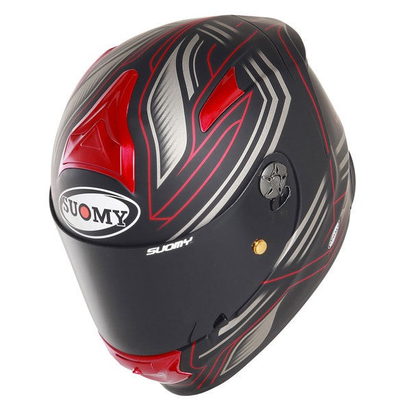Suomy SR Sport Racing Matte Red Full Face Helmet - Tacticalmindz.com