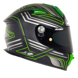 Suomy SR Sport Racing Matte Green Full Face Helmet - Tacticalmindz.com