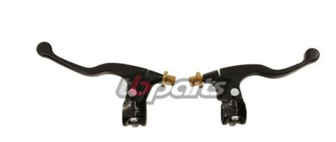 "TB Parts - Mini Perch/Lever Set – Black 7/8"" Bars CRF50, XR50, CRF70, XR70, KLX110"