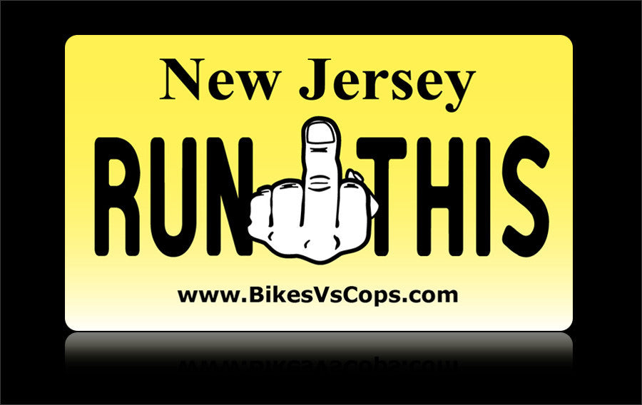 Bikes vs Cops License Plate: New Jersey - Tacticalmindz.com