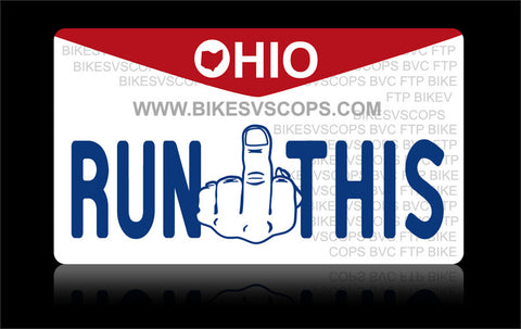Bikes vs Cops License Plate: Ohio