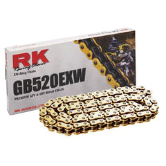 RK Racing GB520EXW Pitch Motorcycle Chain - Tacticalmindz.com