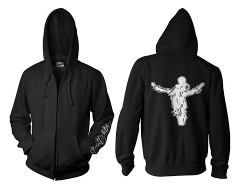 Streetfighterz Zip Up Hoodie (White Print)