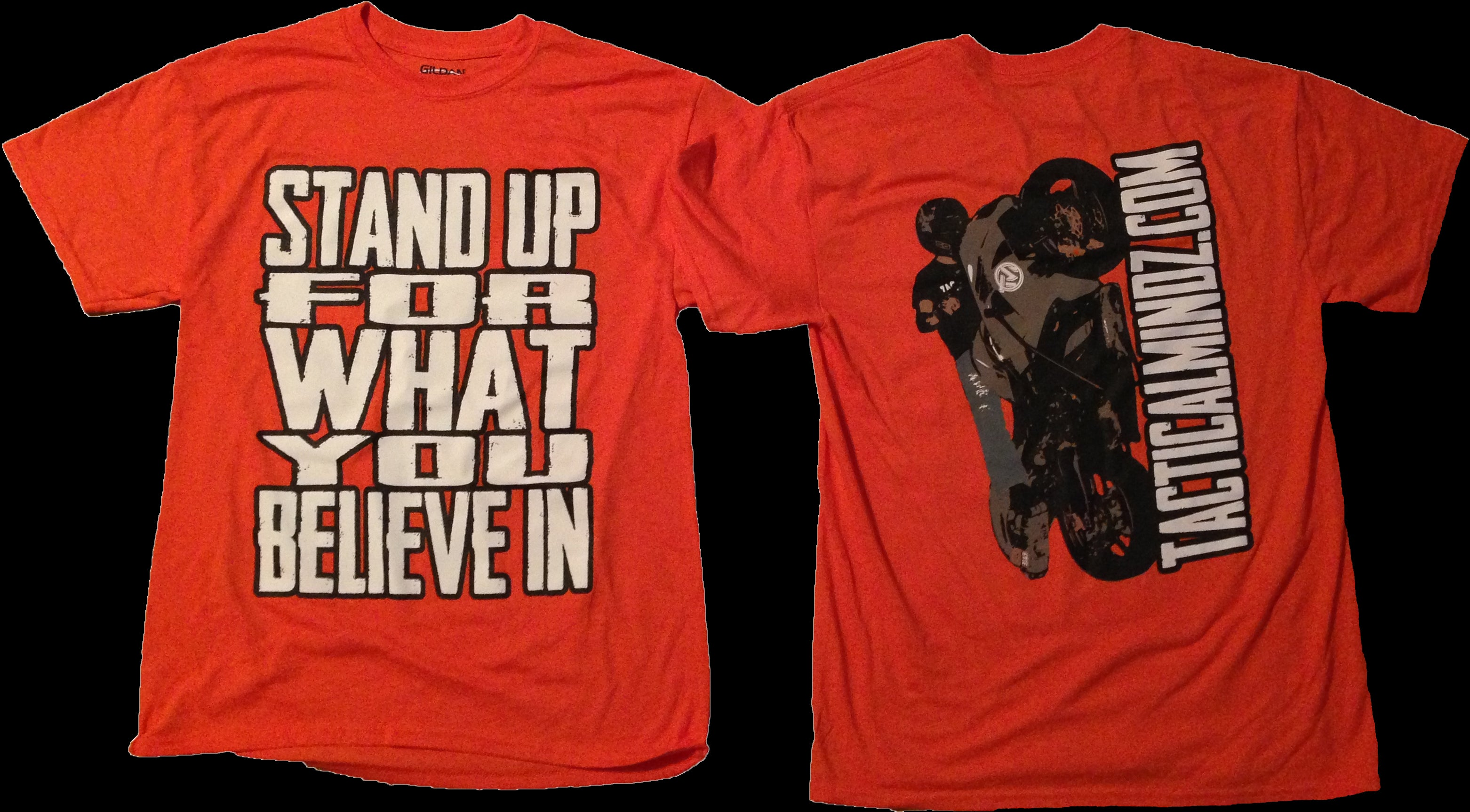 Tactical Mindz Stand Up T-Shirt: Bright Orange - Tacticalmindz.com
