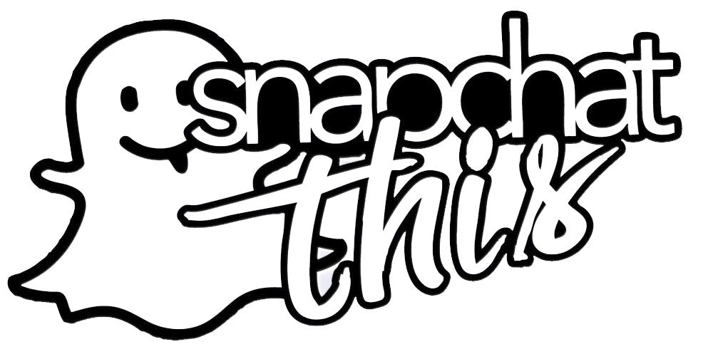 Snapchat This Decal / Sticker