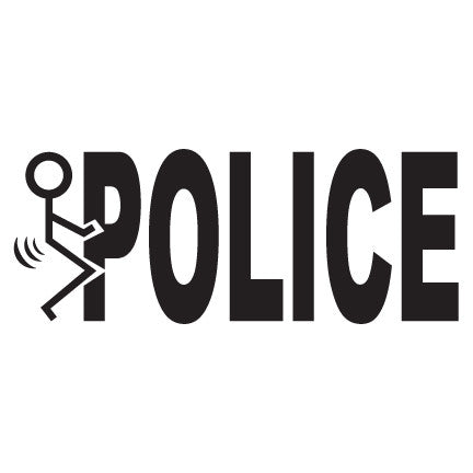 F*** The Police Decal Sticker