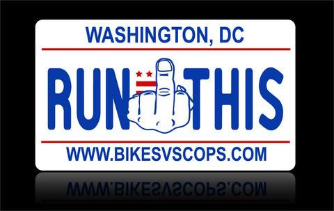 Bikes vs Cops License Plate: Washington