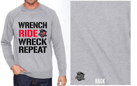 StreetFighterz Wrench Ride Wreck Repeat Sweatshirt