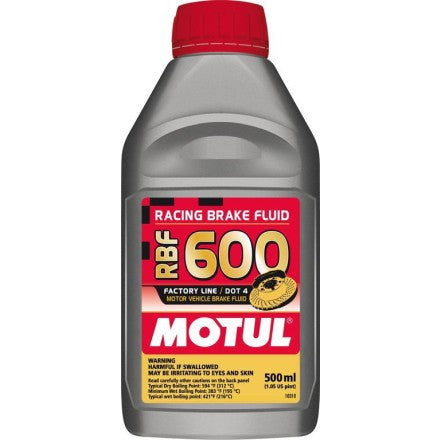 Motul RBF 600 Racing Brake Fluid DOT 4 (.5 Liter Bottle)