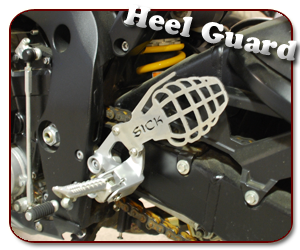 Sick Innovations Grenade Heel Guard: Kawasaki