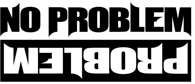 No Problem Decal / Sticker - Tacticalmindz.com