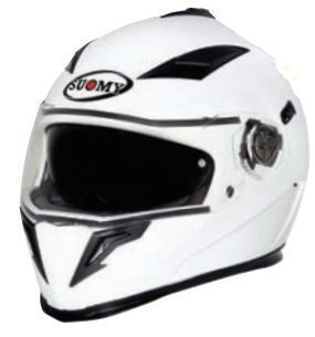 Suomy Halo Solid White Helmet - Tacticalmindz.com
