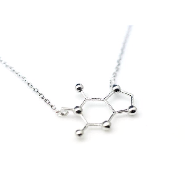 CAFFEINE MOLECULE -NECKLACE