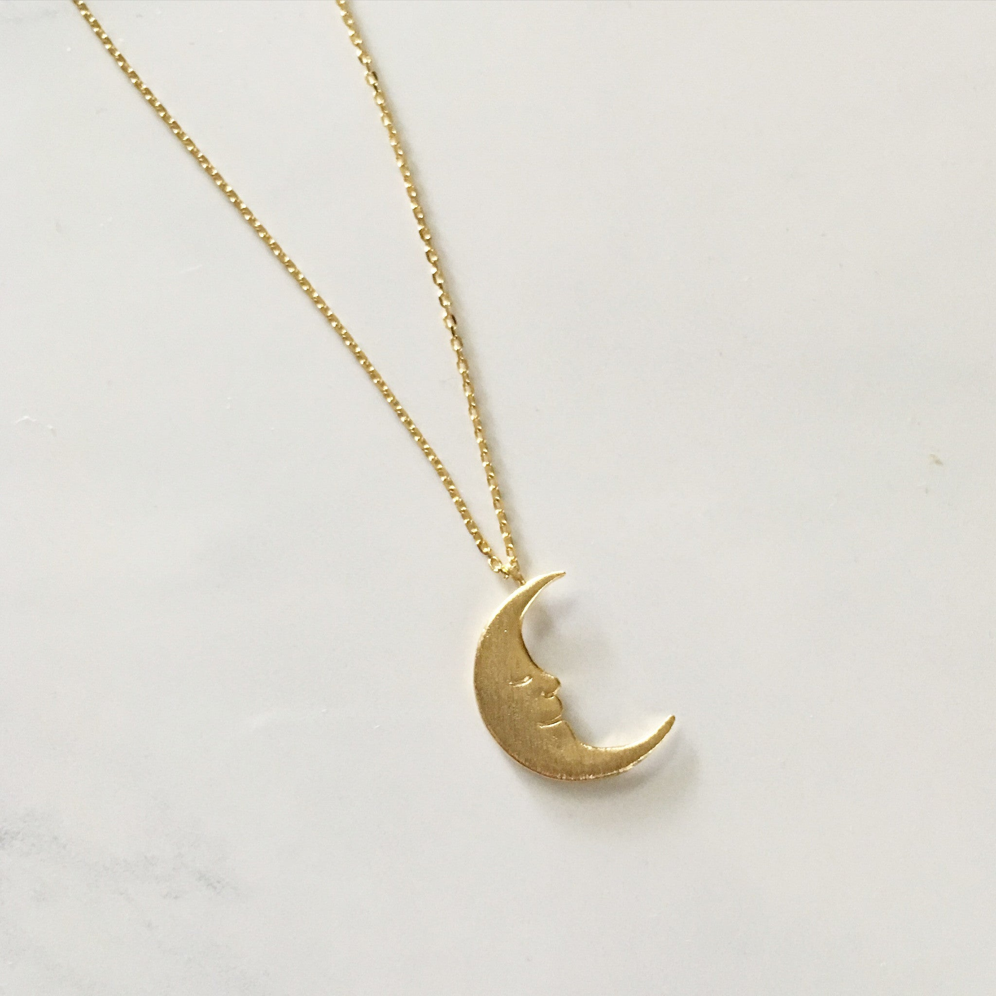 MOON FACE -Necklace