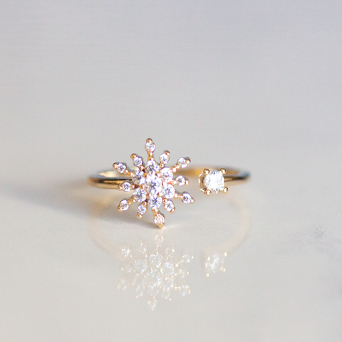 SNOWFLAKE & CRYSTAL - RING