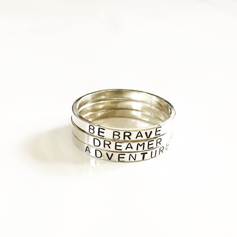 BEBRAVE. DREAMER. ADVENTURE -Ring