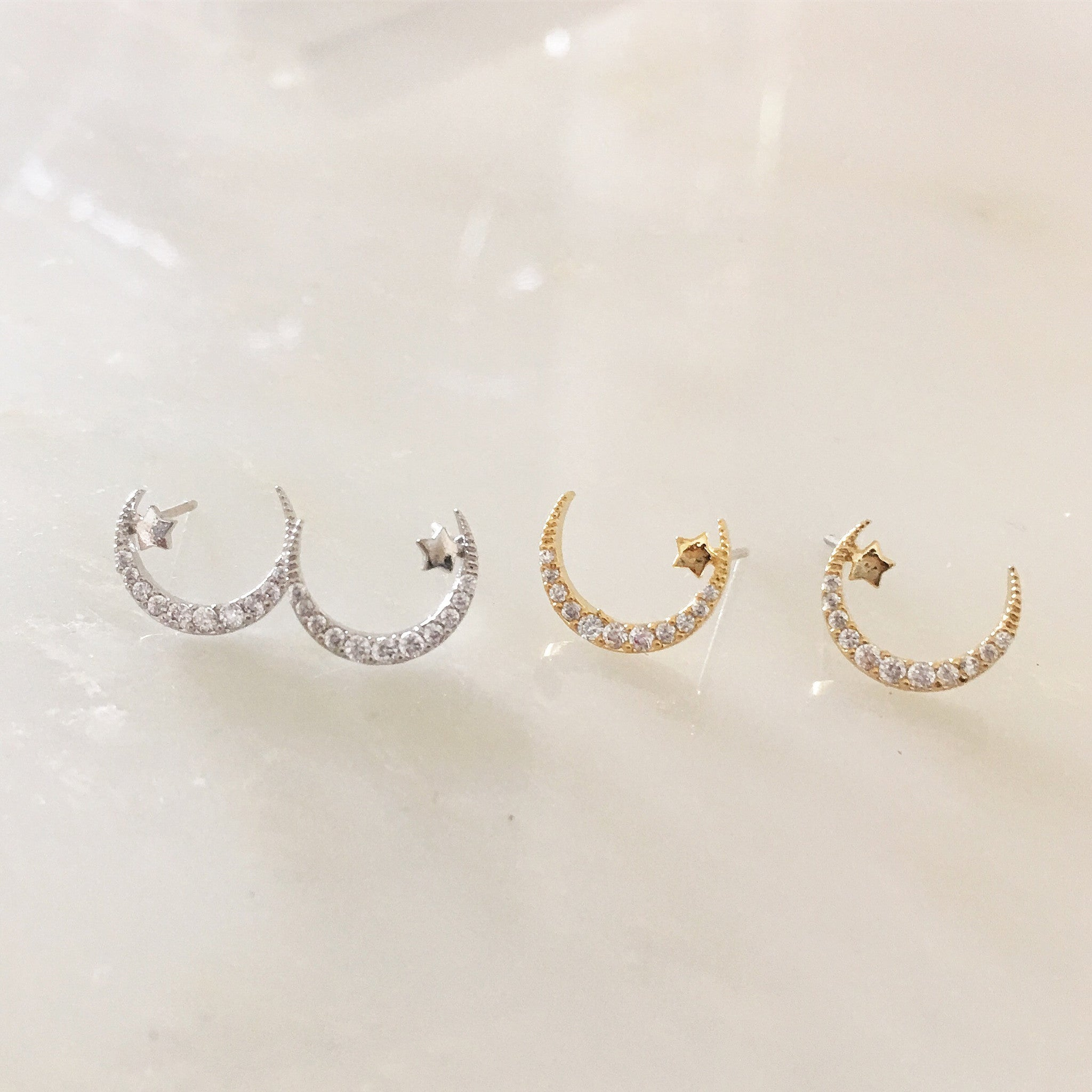 PAVE MOON - Earrings
