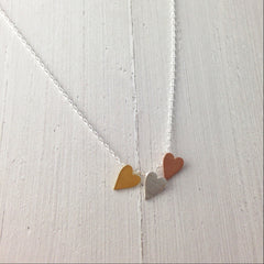 THREE HEART -NECKLACE