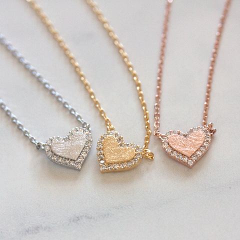 CRYSTAL HEART - Necklace