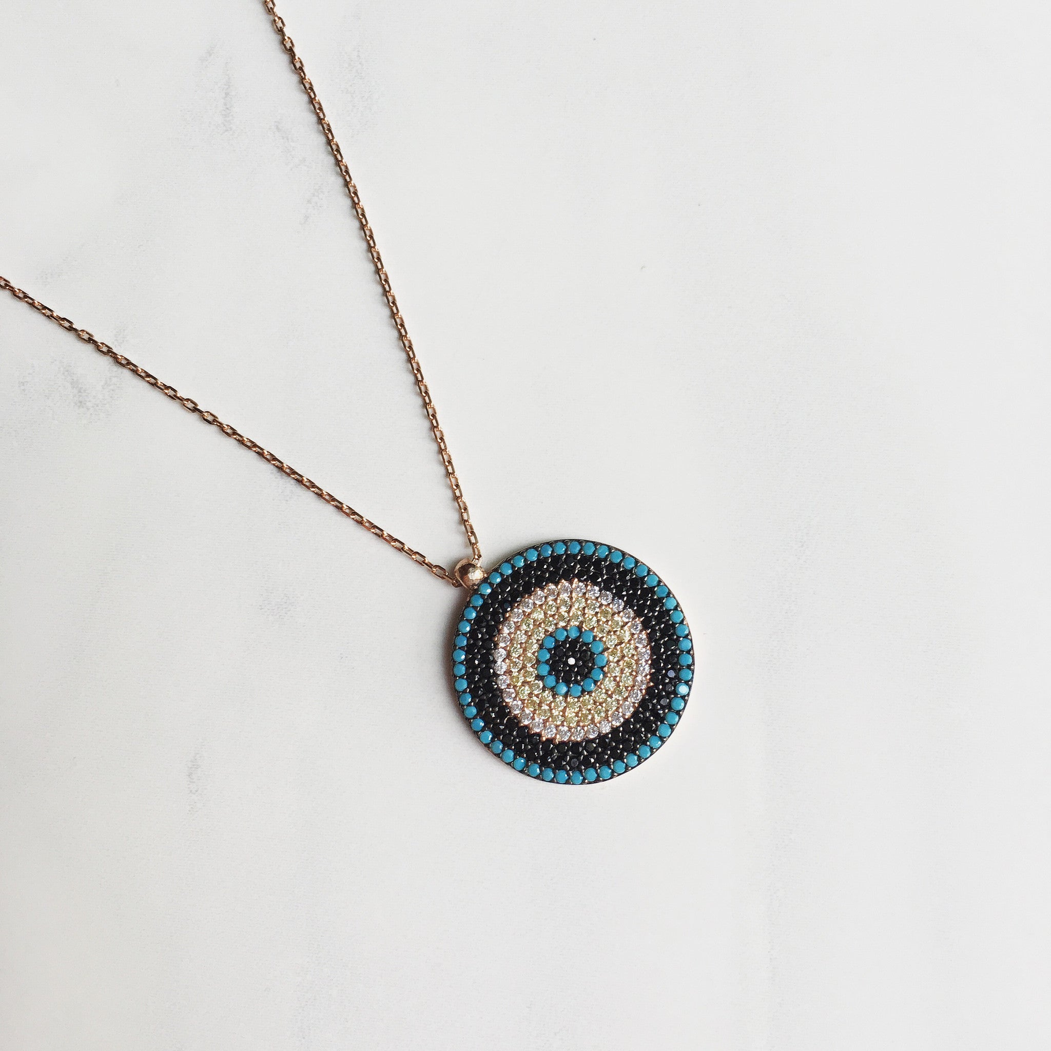 TURQUOISE MOSIAC -Necklace