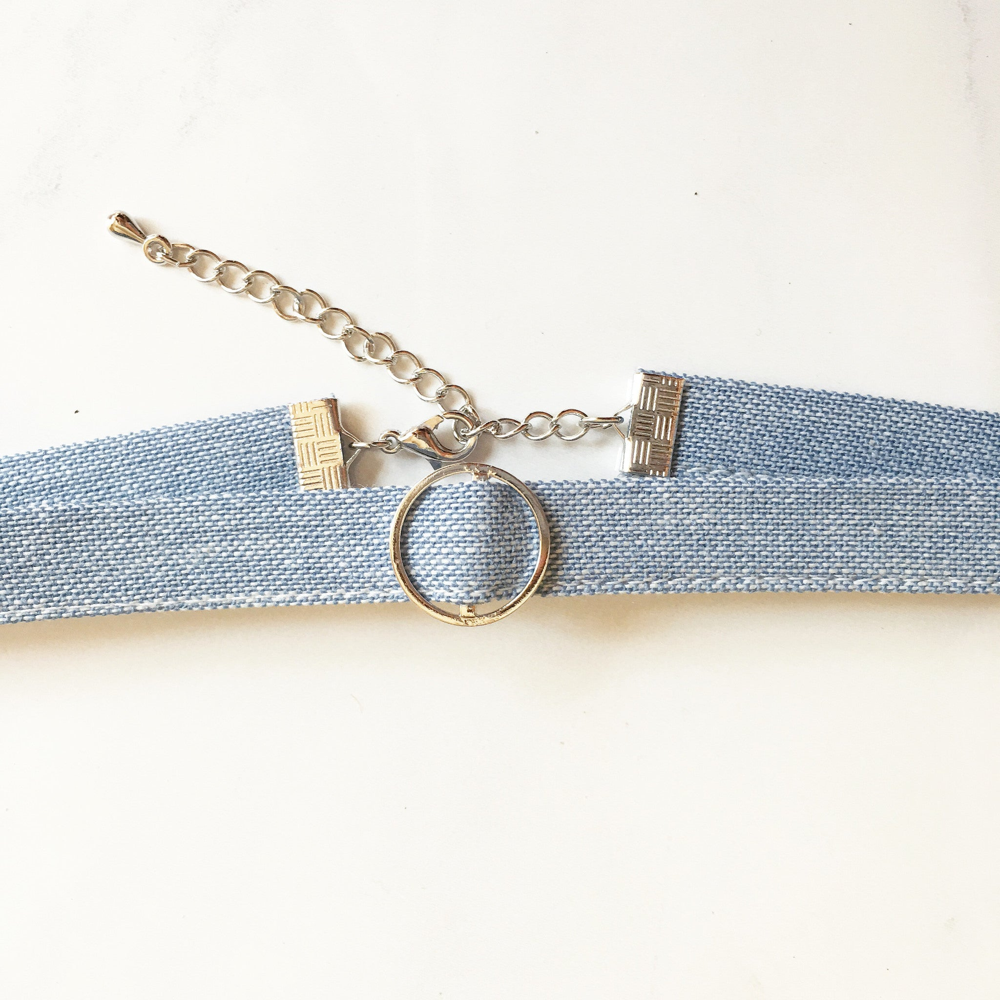 DENIM O RING CHOKER -Necklace