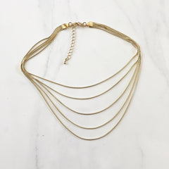LAYERED CHAIN CHOKER - Necklace
