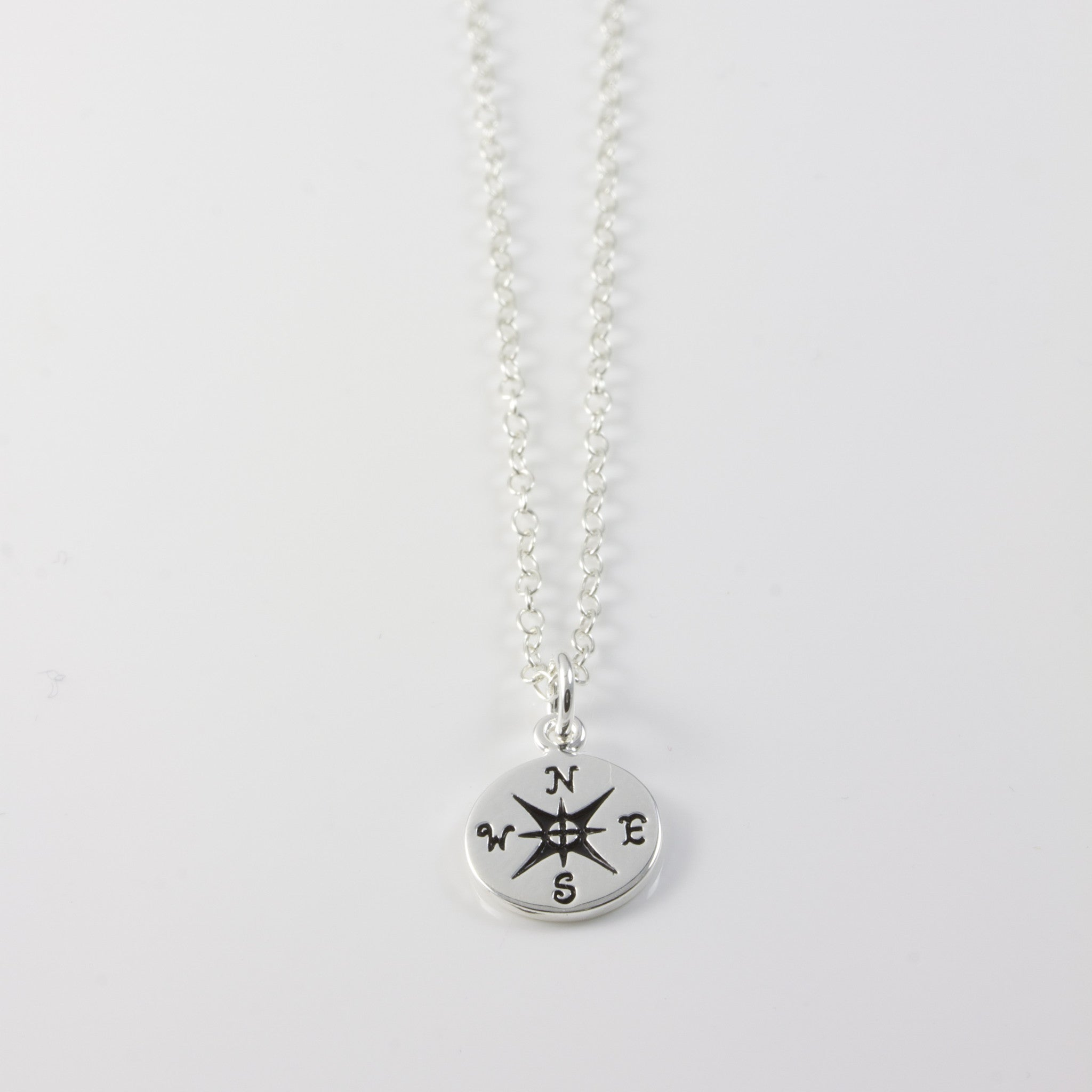 STERLING SILVER COMPASS - NECKLACE