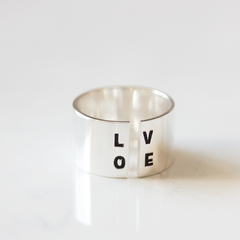 Silver Open Love - Ring